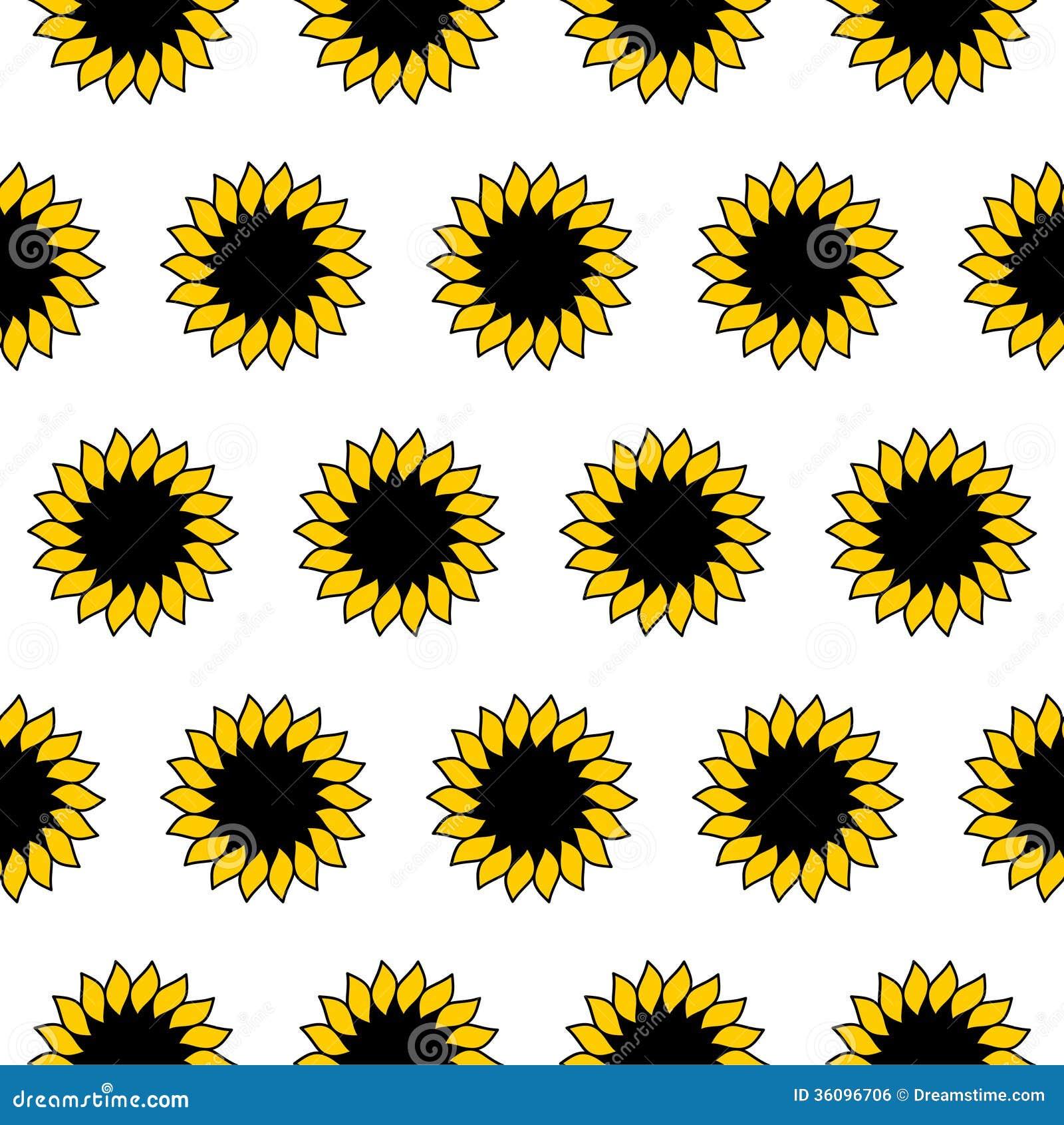 Sunflower. Pattern stock vector. Illustration of seamless ...