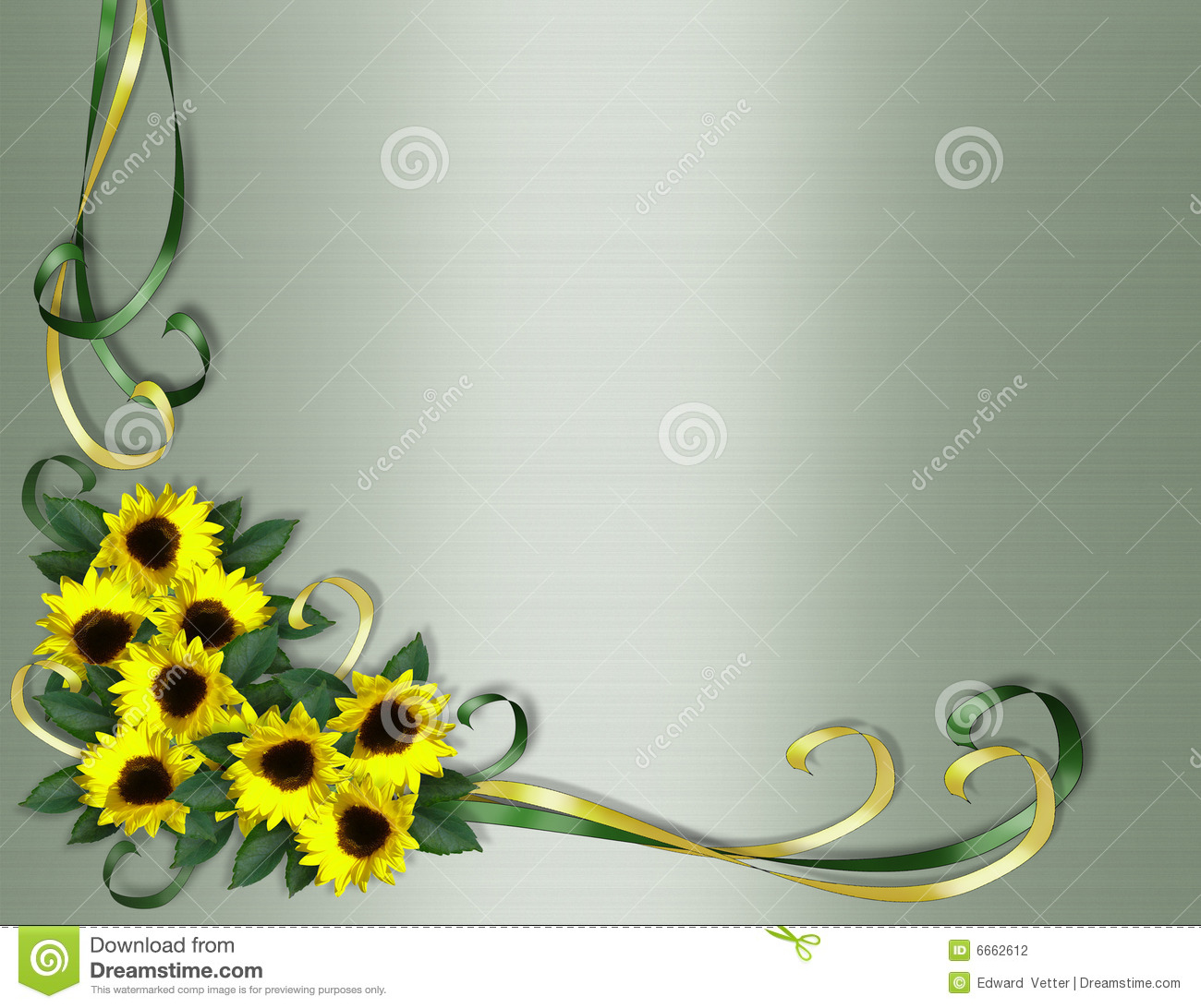 Sunflowers Corner Invitation Border Stock Illustration ...