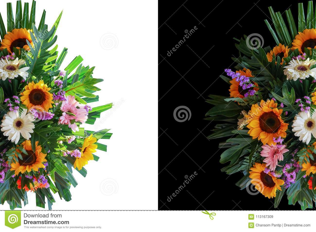 Sunflowers and gerbera daisies flower arrangement with fern phi sunflowers and gerbera daisies flower arrangement with fern phi izmirmasajfo
