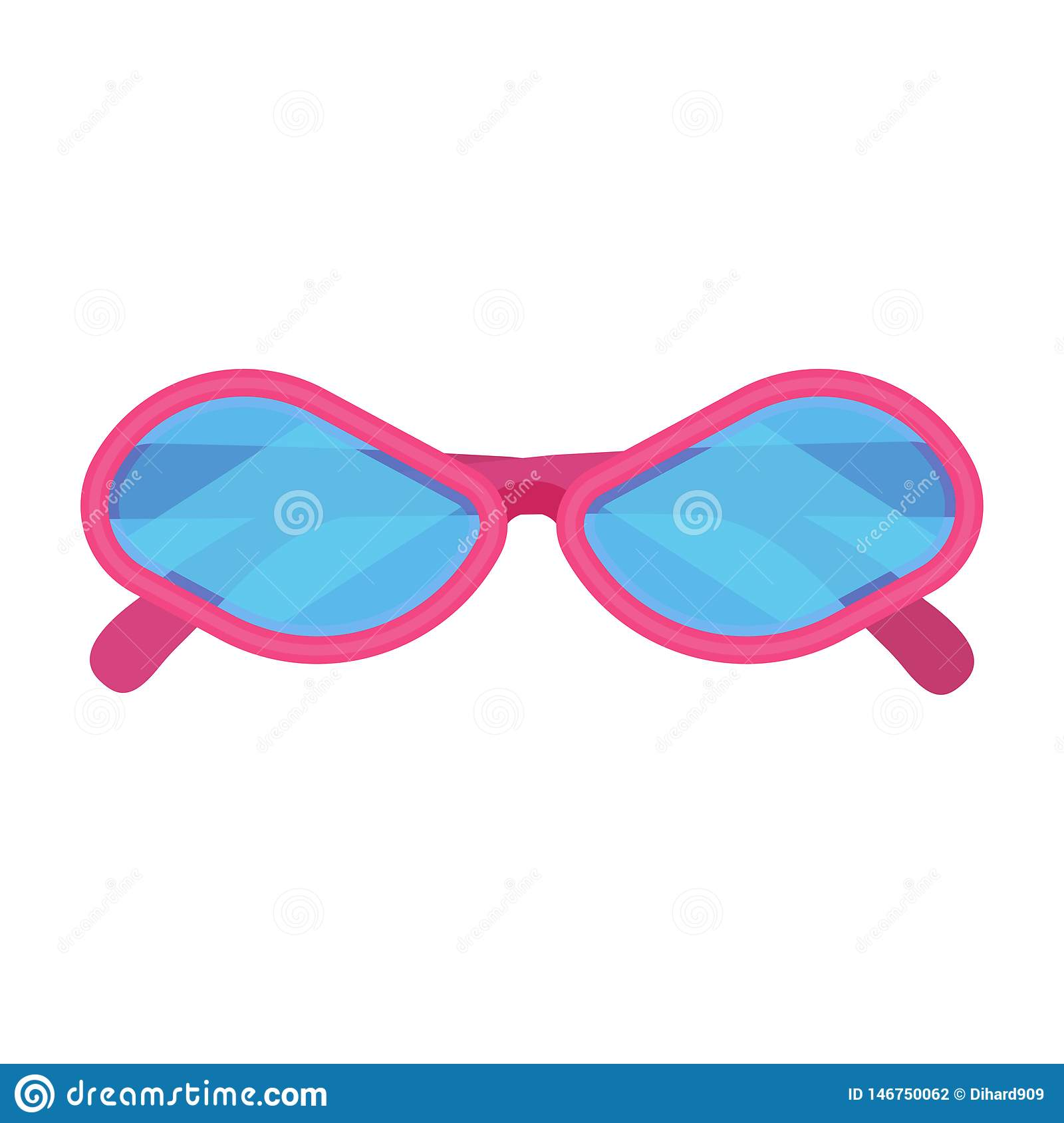 Sunglass fashion vector icon accessory pink frame. Isolated eye lens protection summer. Cartoon hipster funny vacation