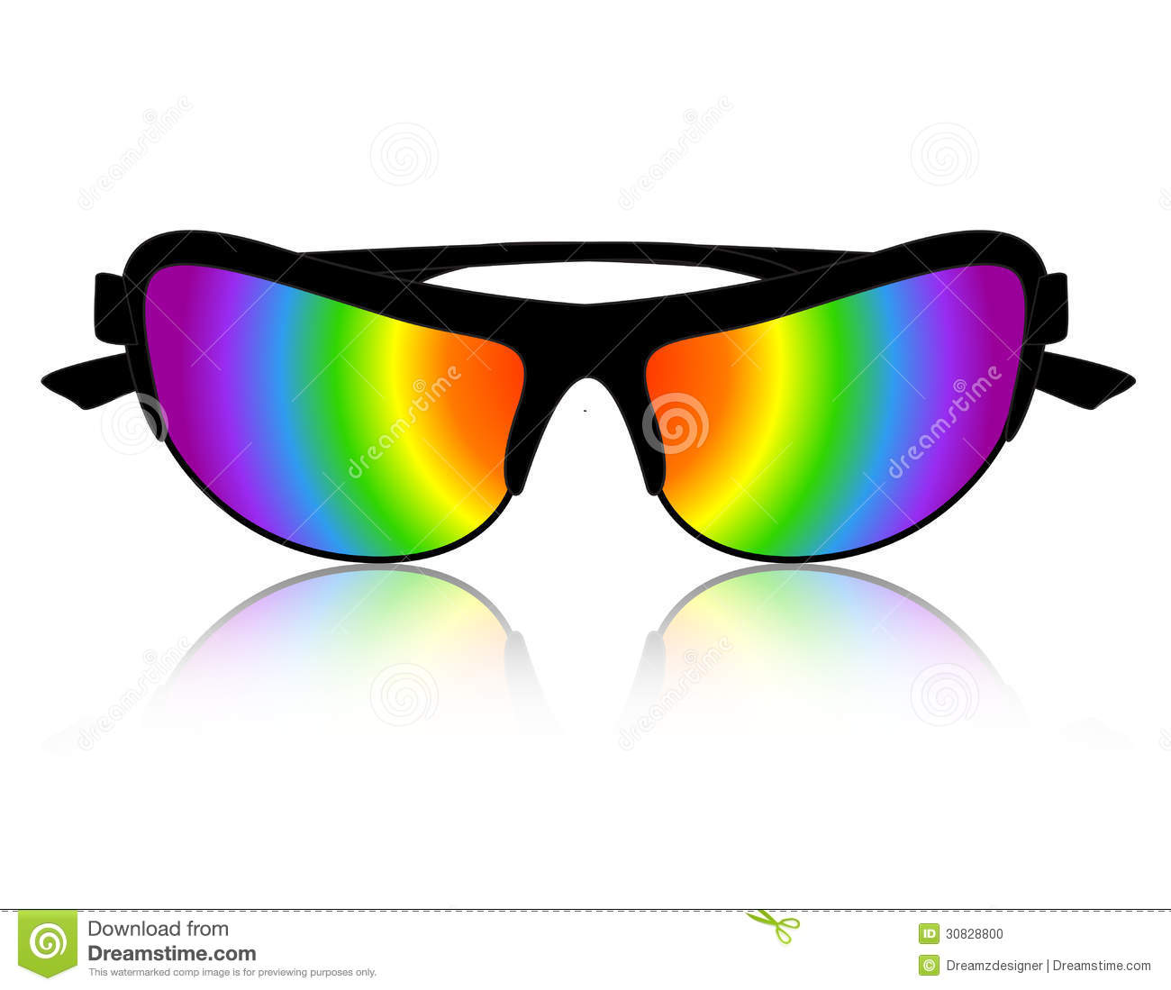 Sunglass Rainbow Color