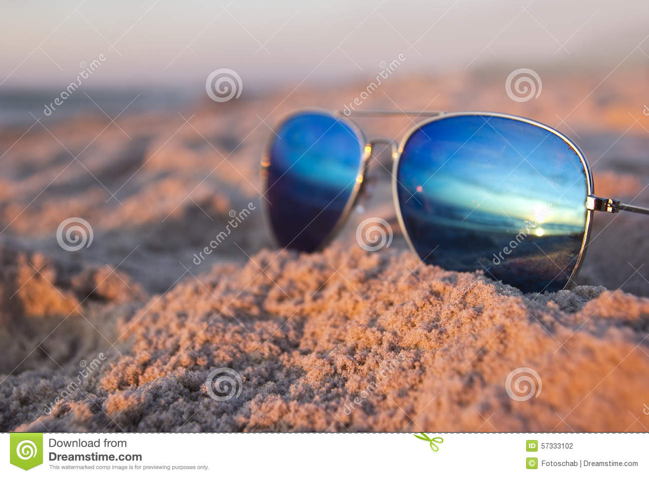Sunglasses At The Beach Stock Photo - Image: 57333102