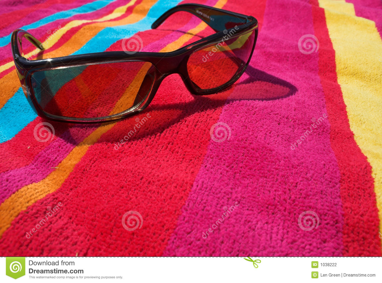 Beach Towel Clipart Sunglasses on beach towel