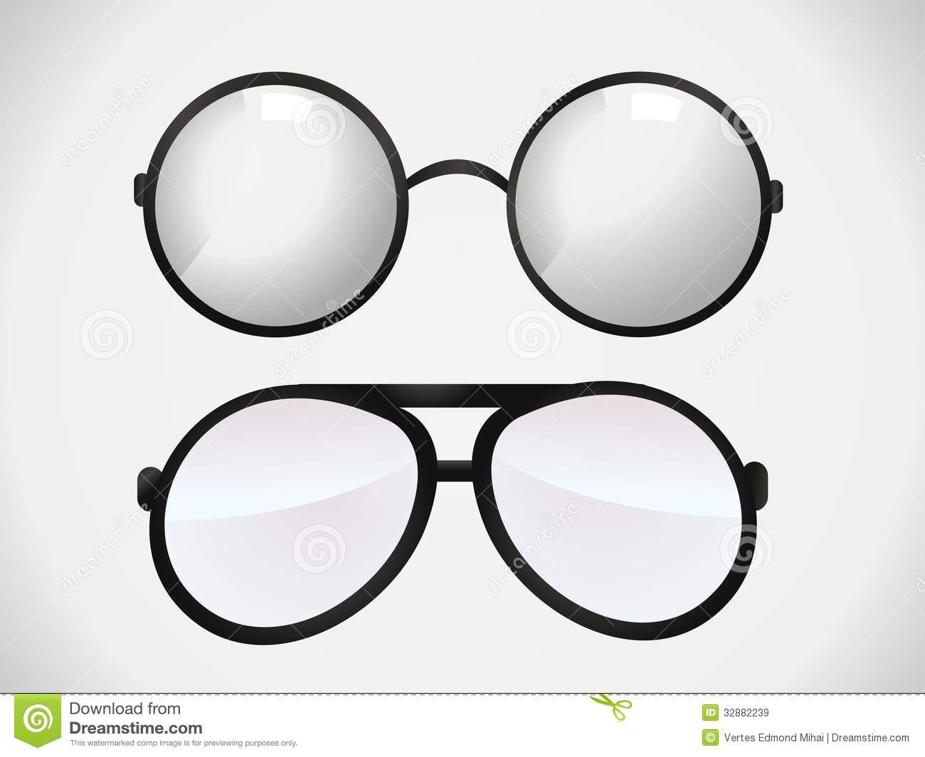 Glasses Frames Vector : Sunglasses And Eyeglasses Royalty Free Stock Images ...