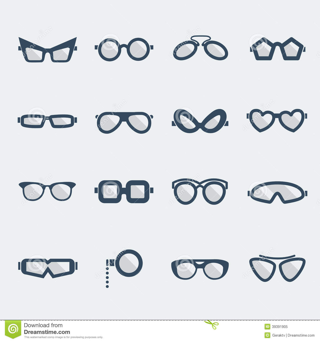 sunglasses design  Sunglasses And Glasses Stock Vector - Image: 39391905