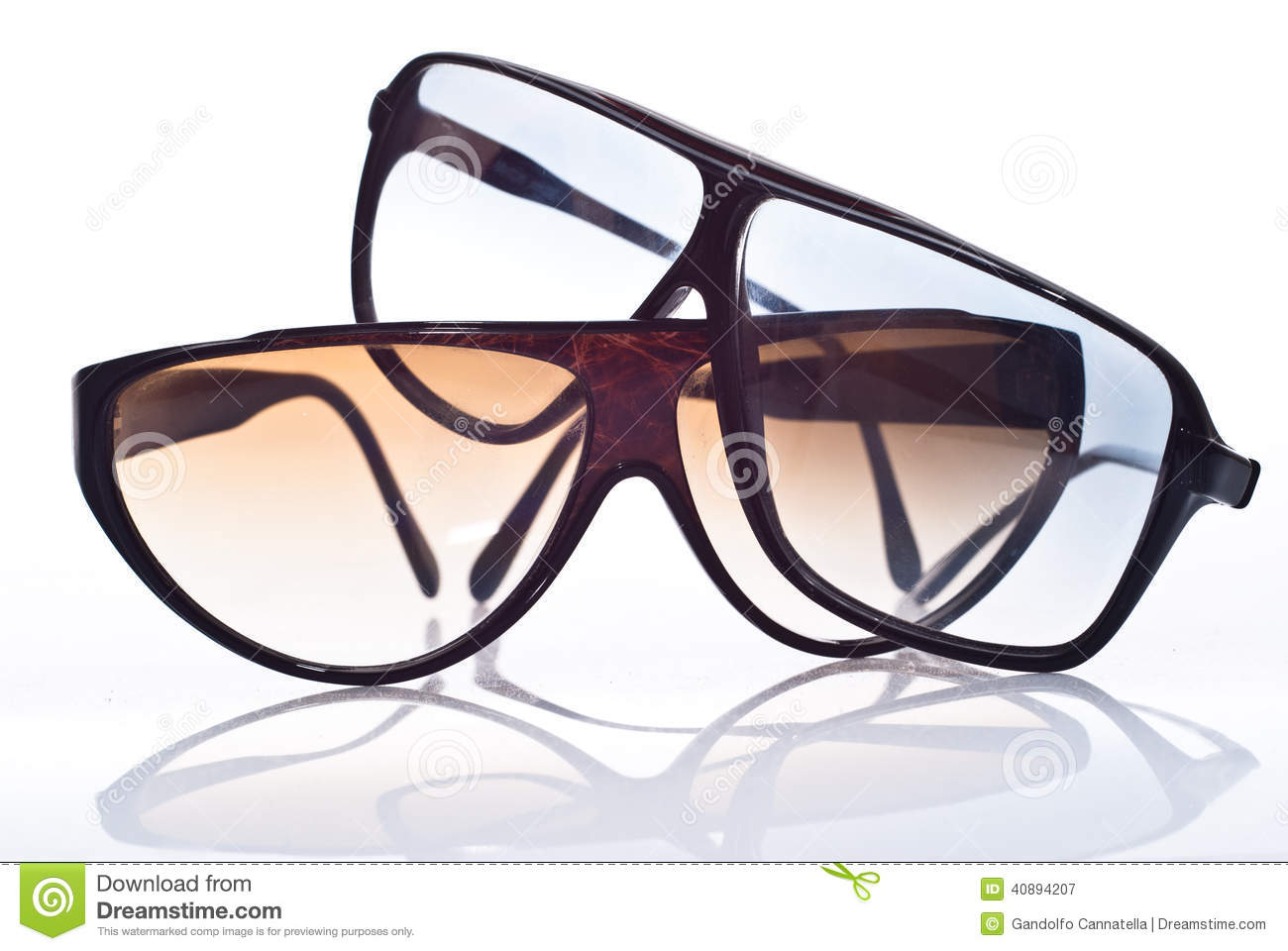Sunglasses isolated over white