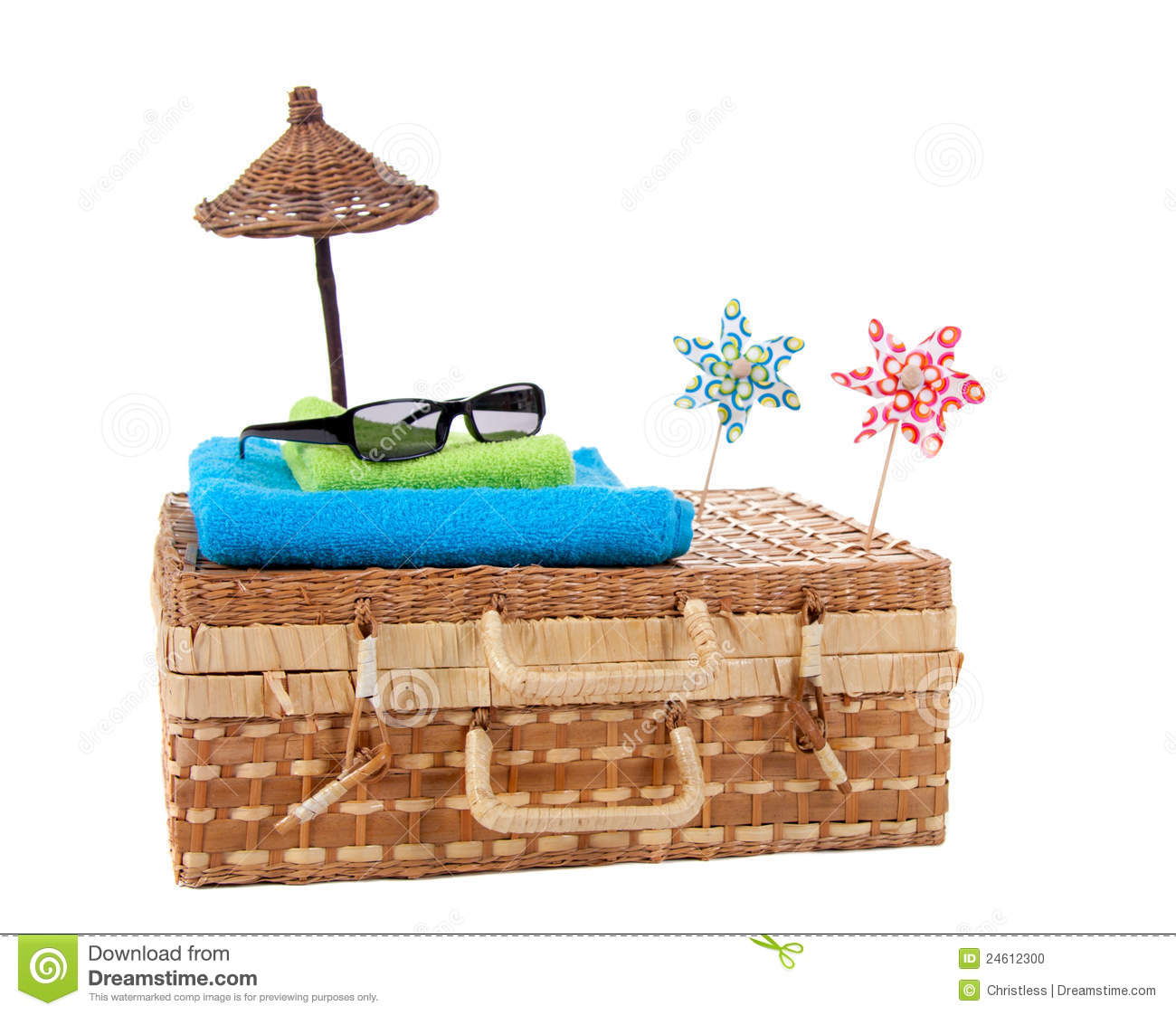 Sunglasses On Top Of Beach-towels Stock Photo