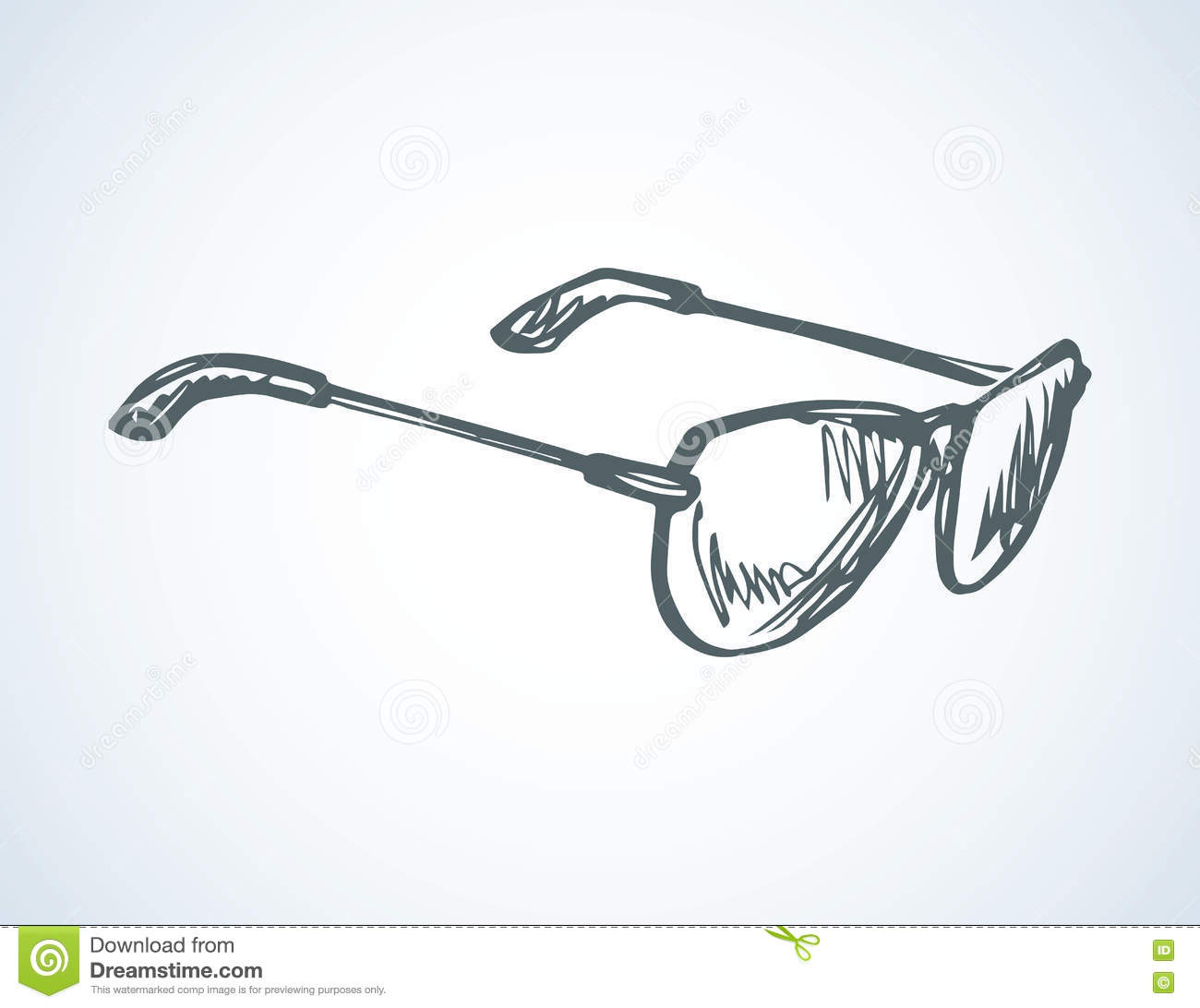 52fa9b2b74 New protective polarized eyewear isolated on white backdrop. Freehand  outline ink hand drawn picture sign sketchy in art scribble retro style pen  on paper.