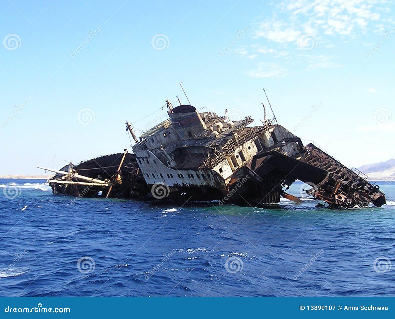 sunken ship royalty free stock photography image 13899107