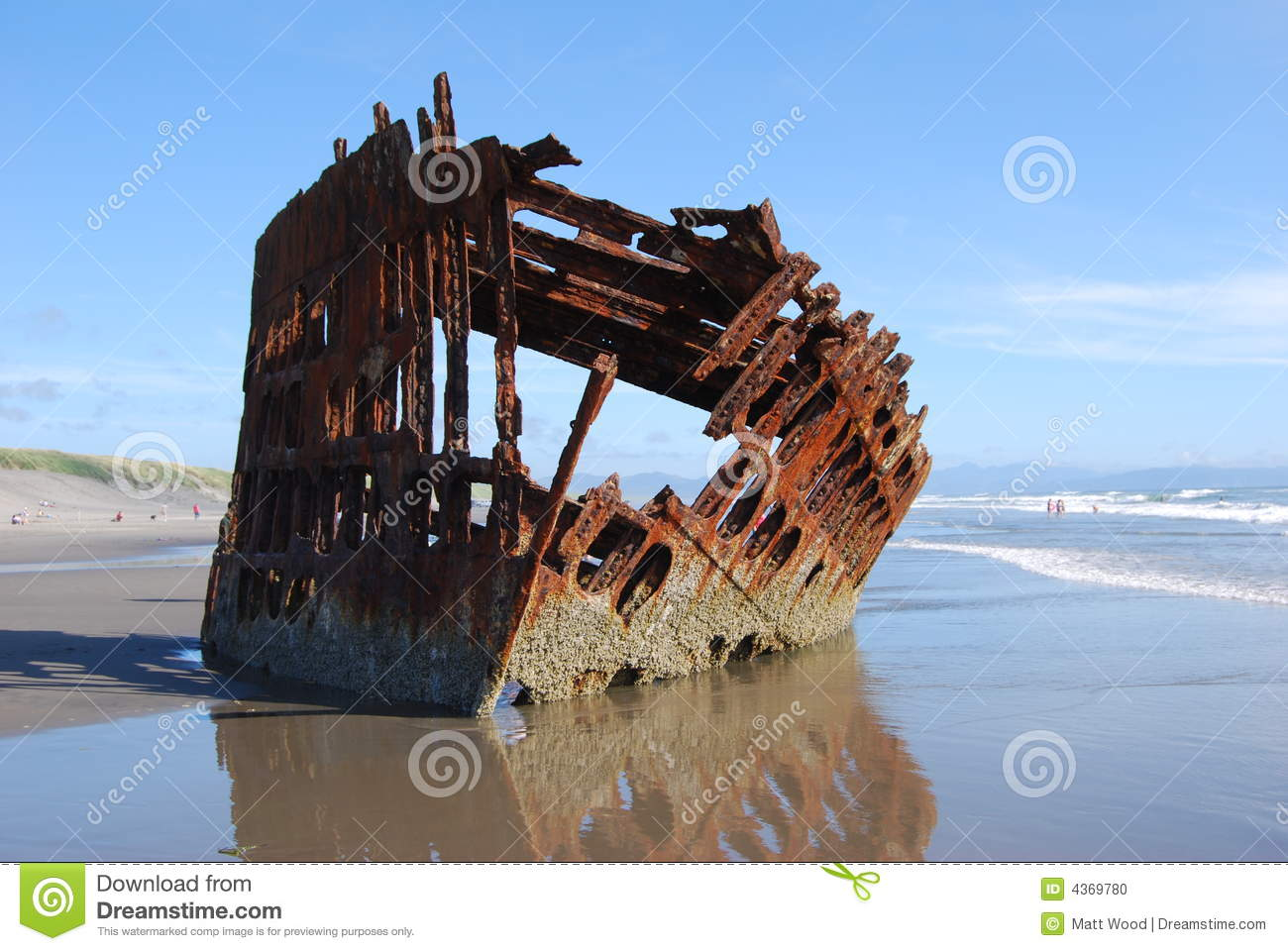 Sunken Ship Stock Photo Image Of Park Whitecaps