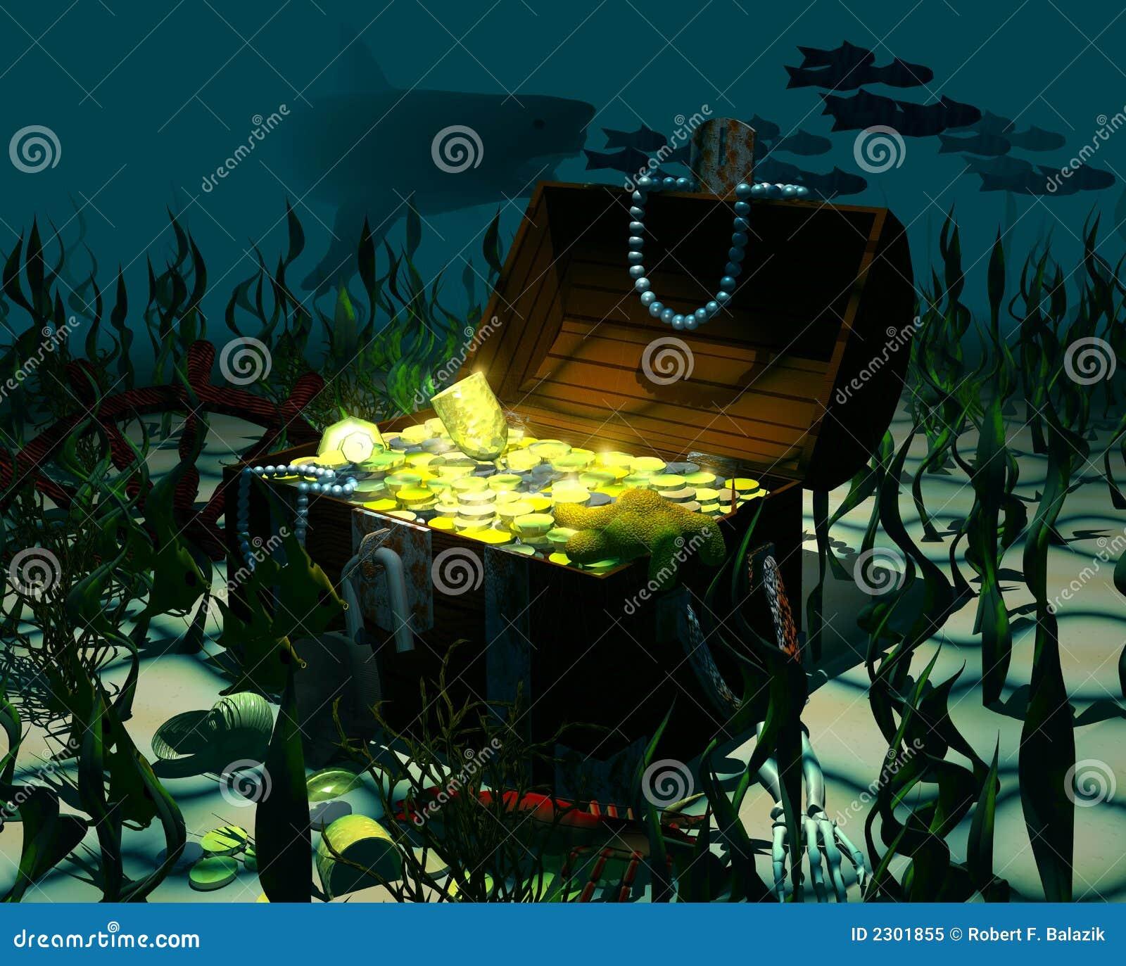 sunken treasure stock illustration illustration of chest 2301855