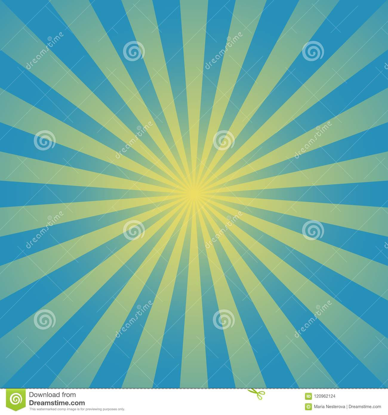 Sunlight Background. Turquoise And Blue Color Burst Background With ...