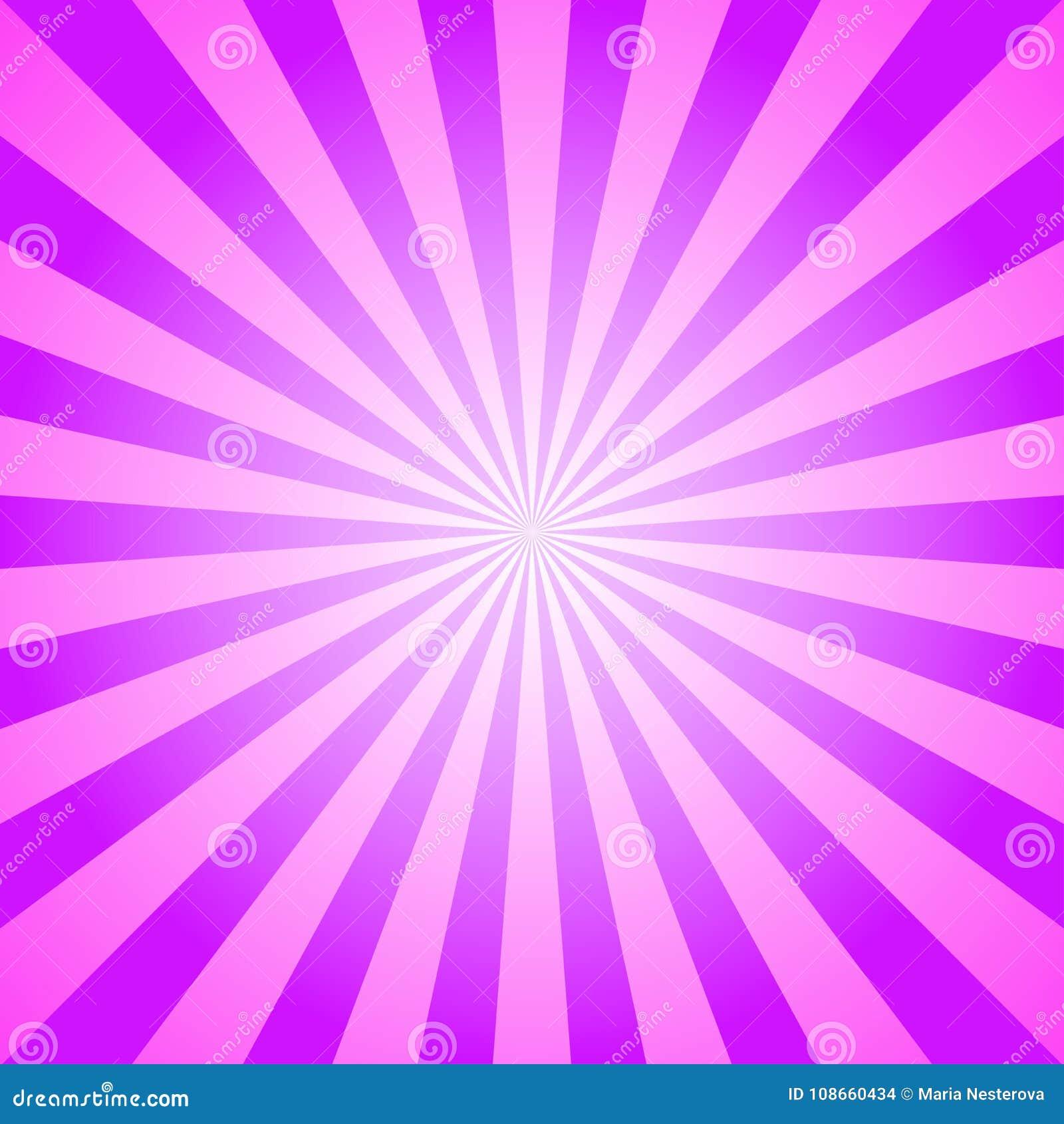 Sunlight background. Violet and pink color burst background. Fantasy Vector illustration. Magic Sun