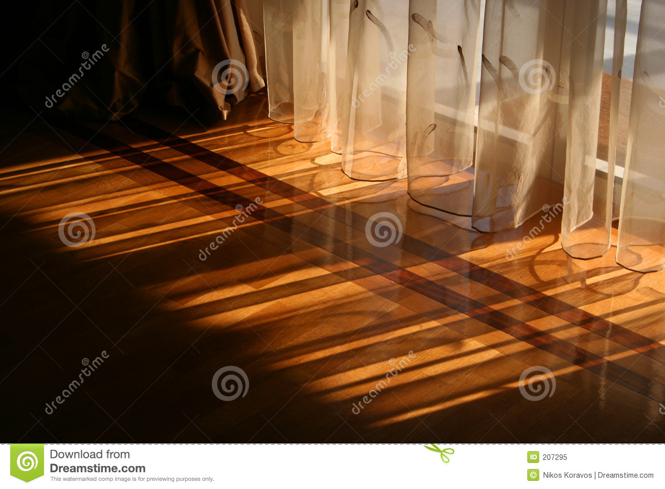 Sunlight Through Curtains Royalty Free Stock Photo Image