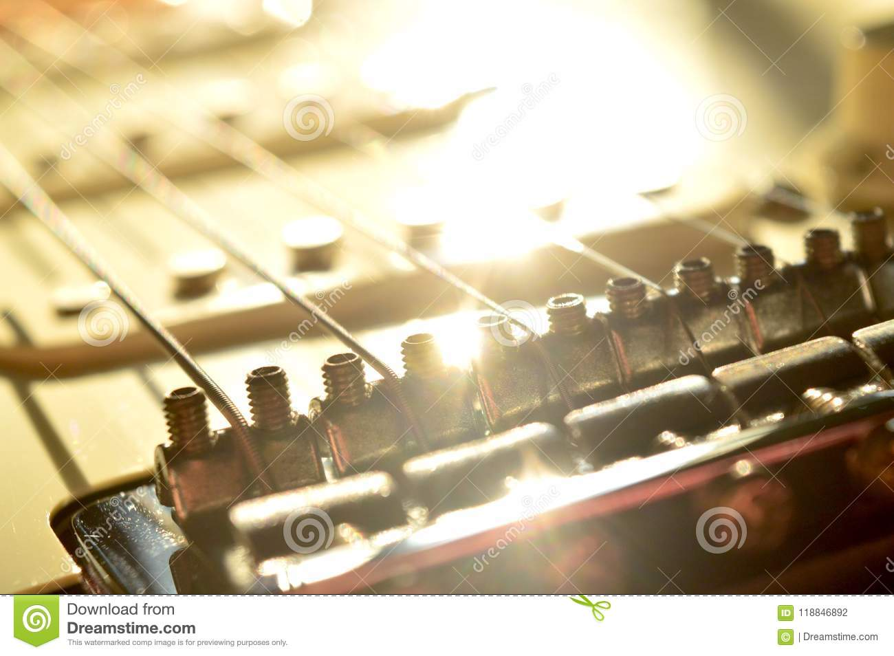 Sunlight Reflected Off The Body Of A Guitar, The Bridge Is