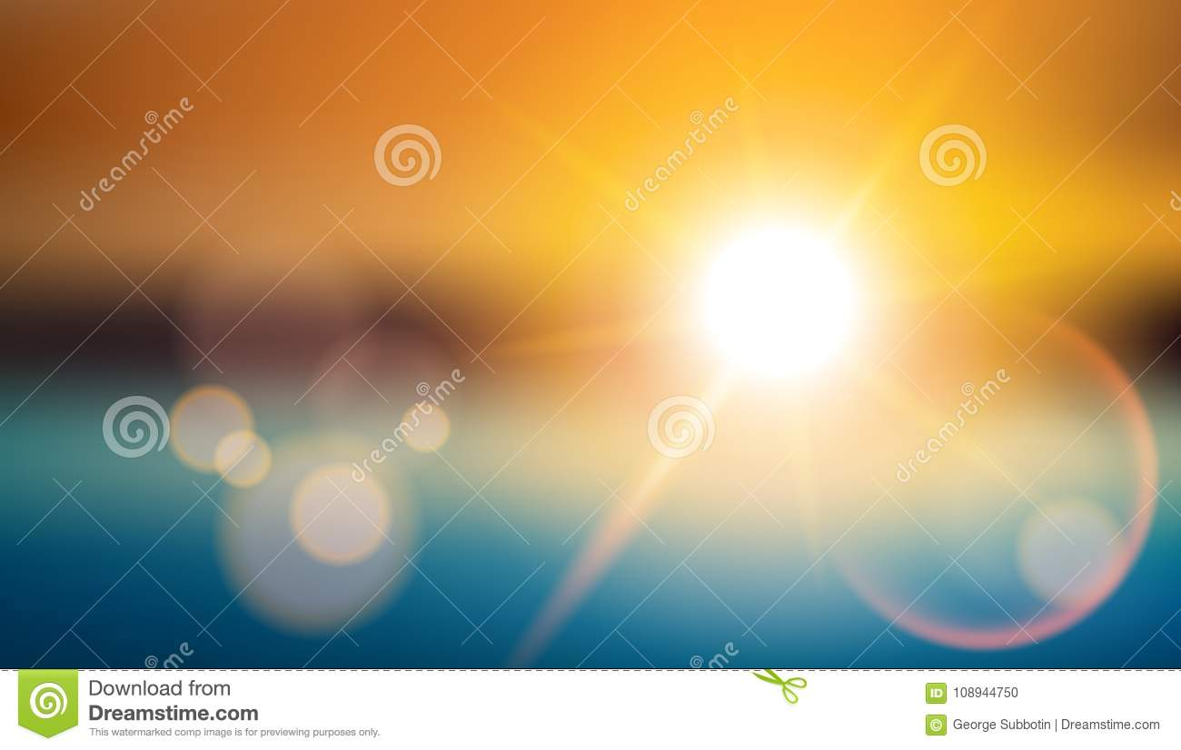 Sunlight Special Effect Lens Flare. Blurred Shining Background