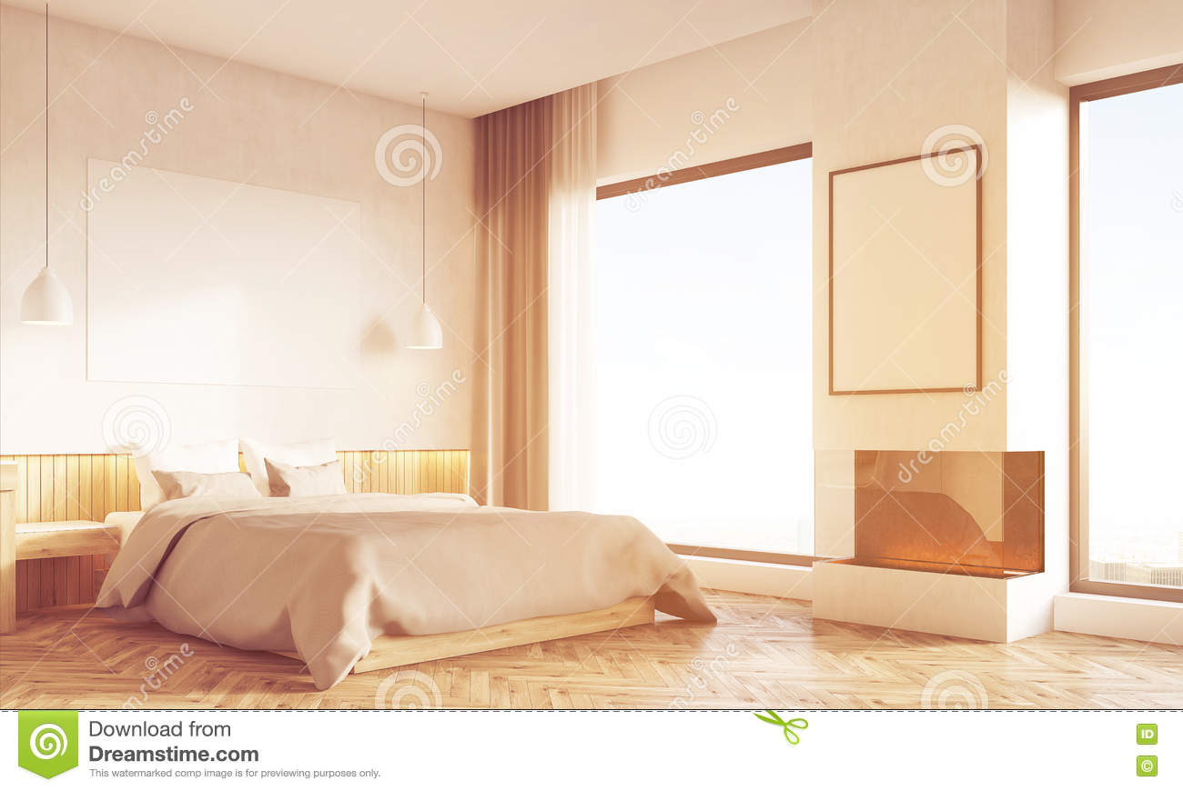 Home Office In Bedroom Side Toned Stock Photo 90570942