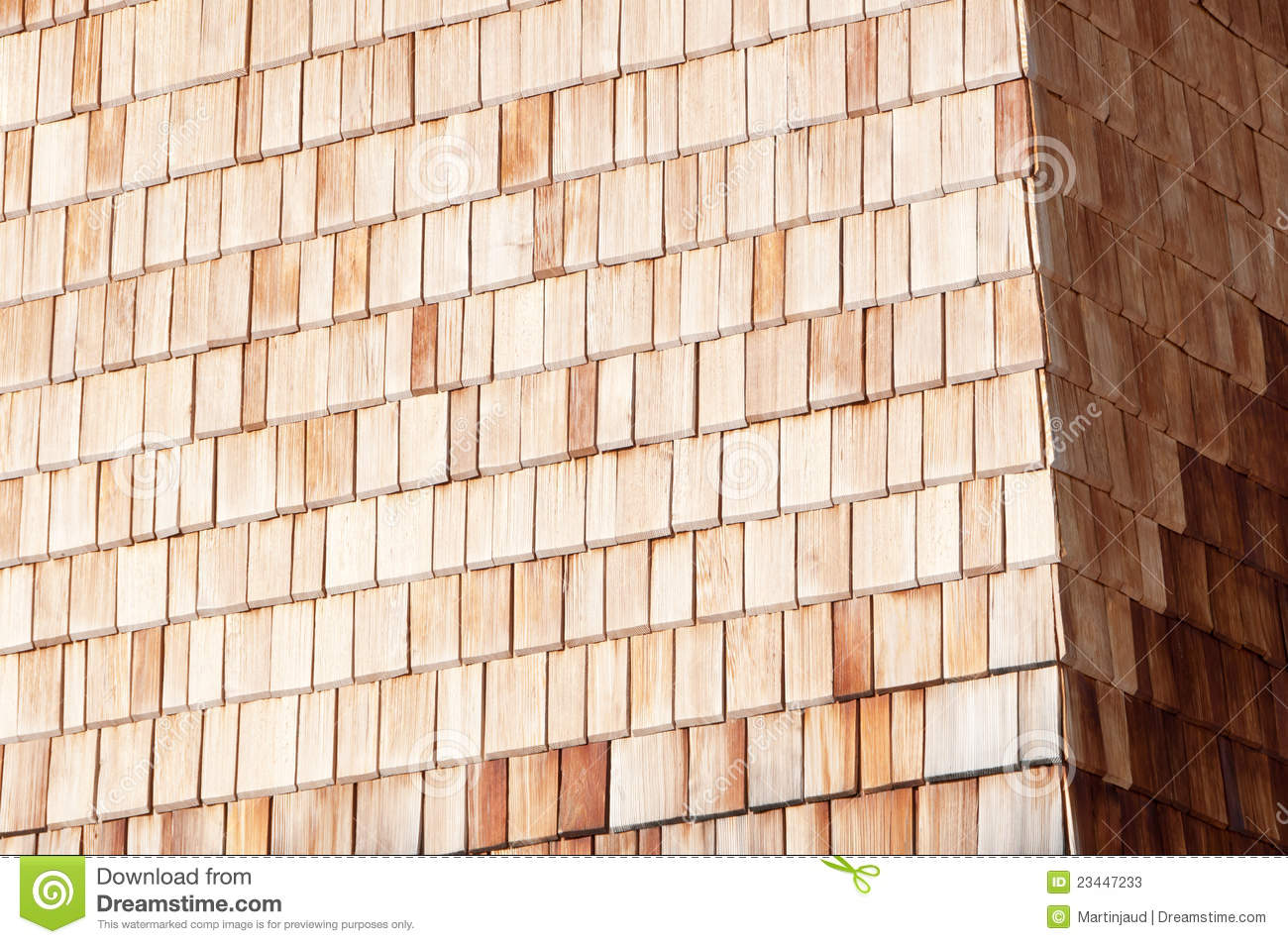 Sunny Alpine Wooden Clapboard Wall Stock Photos Image