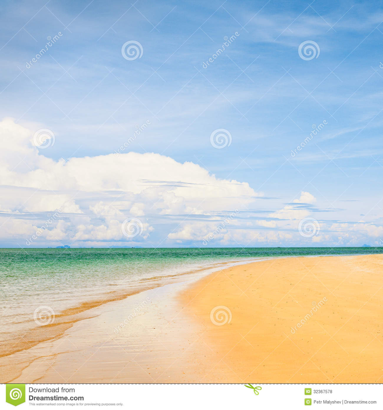 Beautiful Sunny Day At Tropical Beach Royalty Free Stock: Sunny Beach Royalty Free Stock Photos