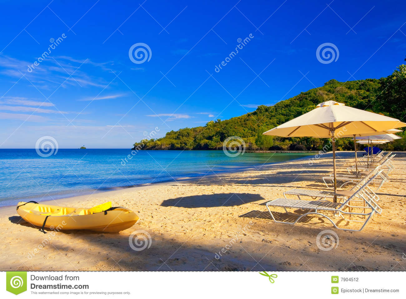 Sunny Beach Vacation Destination Stock Photography  Image: 7904512