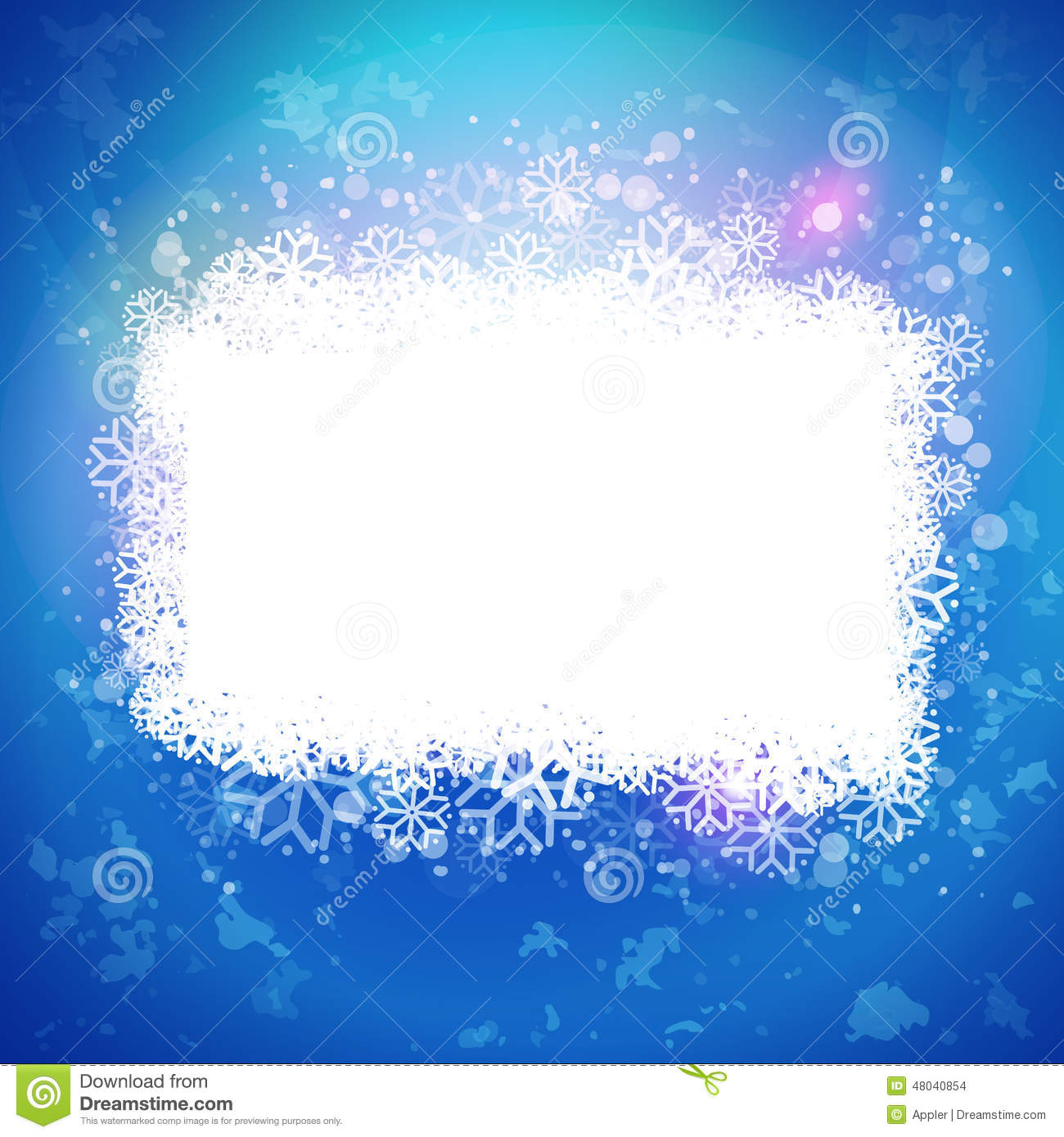Sunny Blue Background With Magic Snow Banner Stock Vector ...