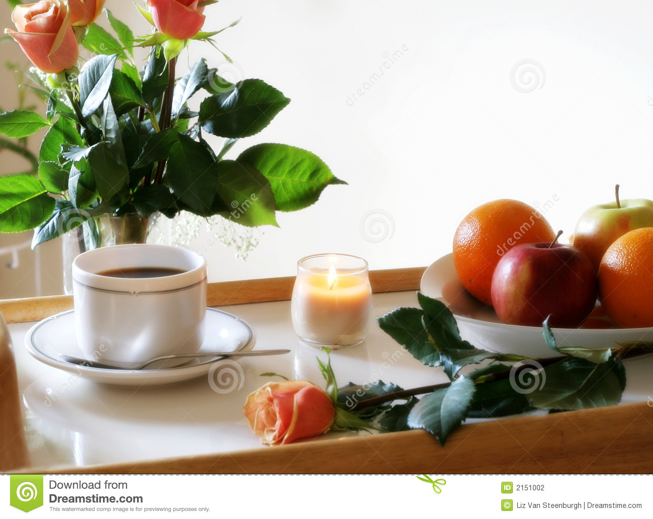 Sunny Breakfast Tray Stock Photography - Image: 2151002