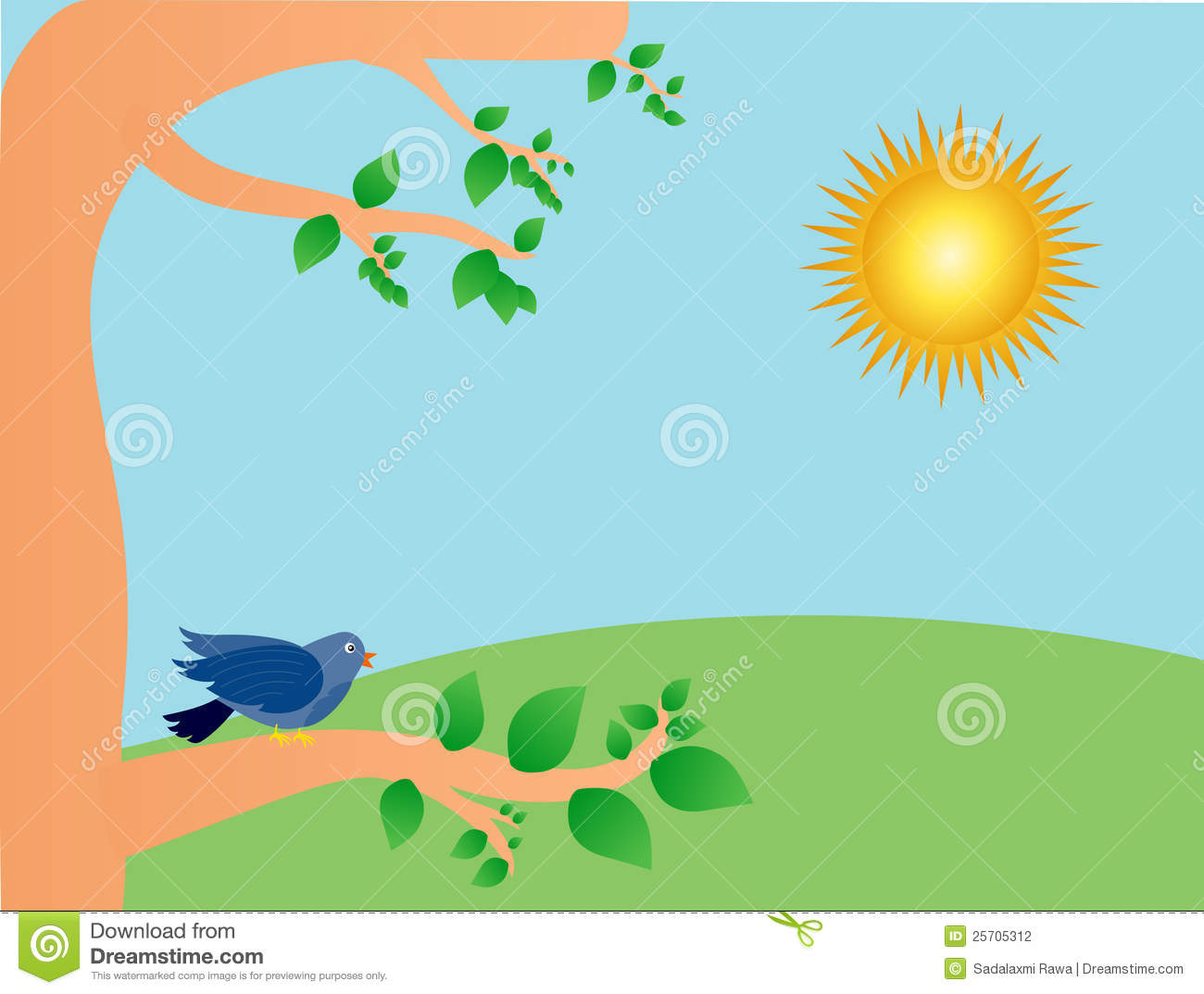 sunny day stock vector illustration of chirping illustrations rh dreamstime com sunny day clipart free sunny day clipart black and white