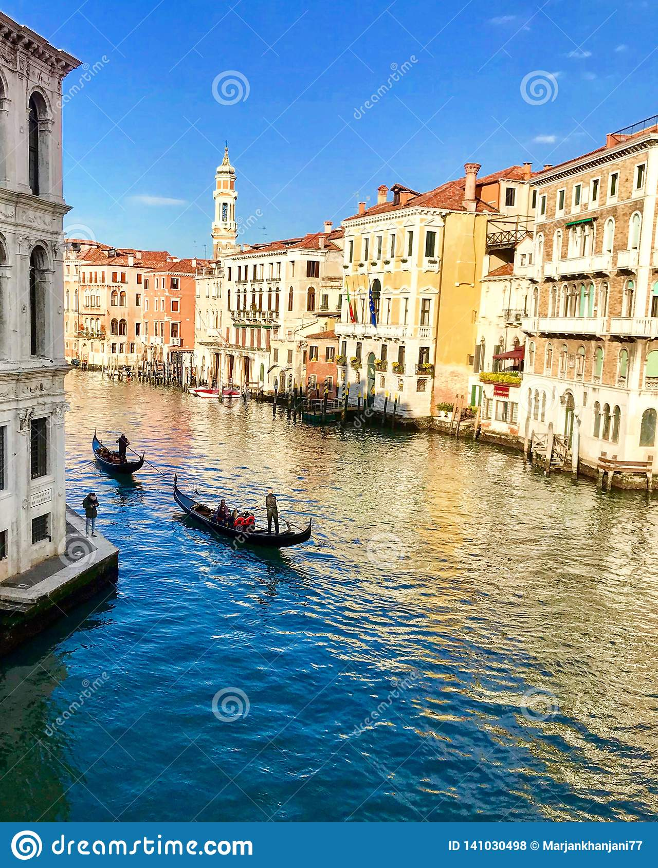 The Canal Grande in Venice, Italy.