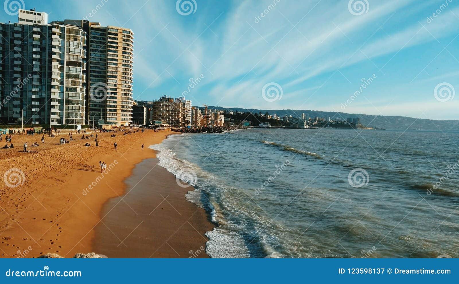 Sunny Day en la playa del ` s de Acapulco