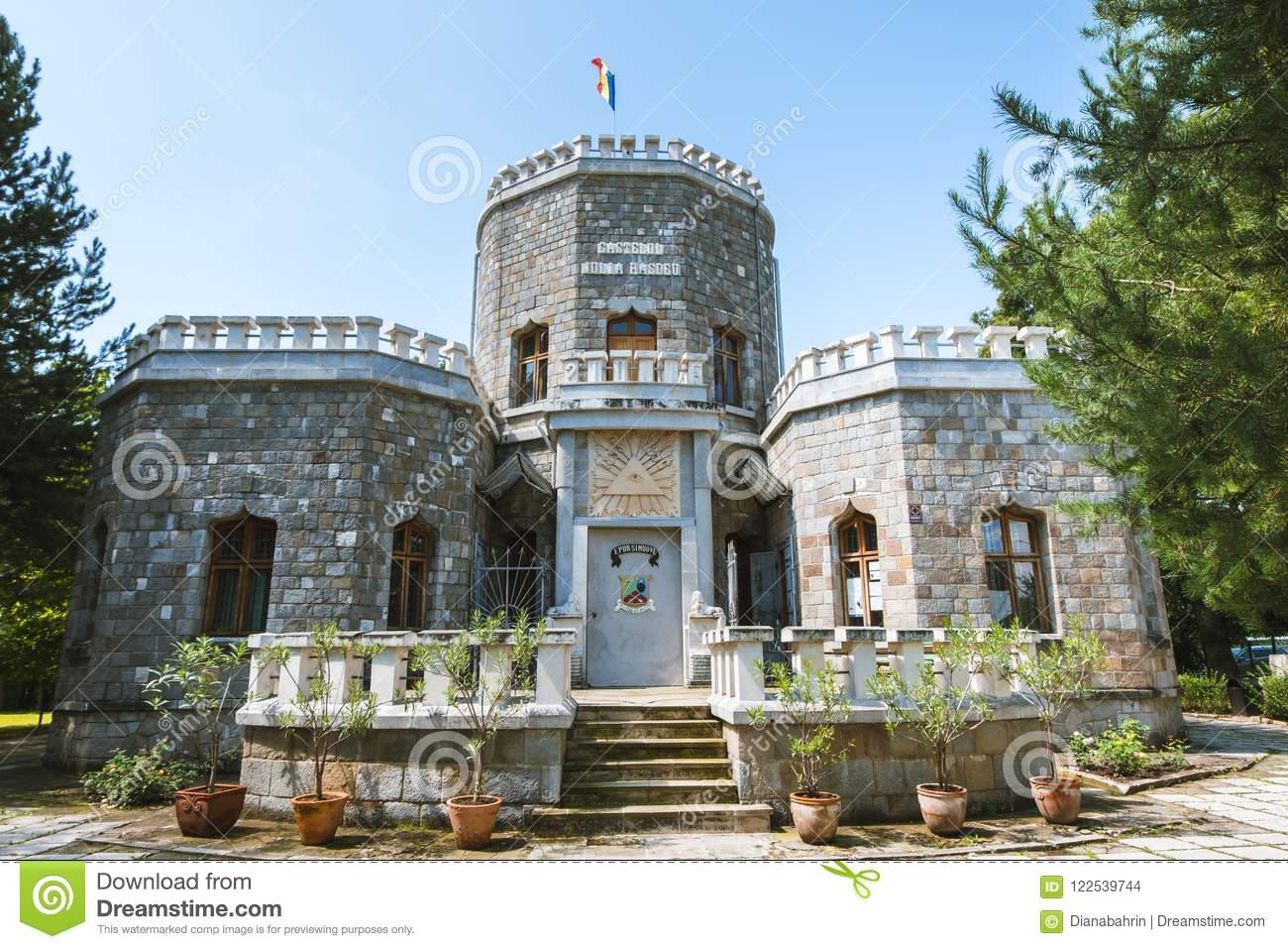 Sunny Day At Iulia Hasdeu Castle A House Built In The Form Of