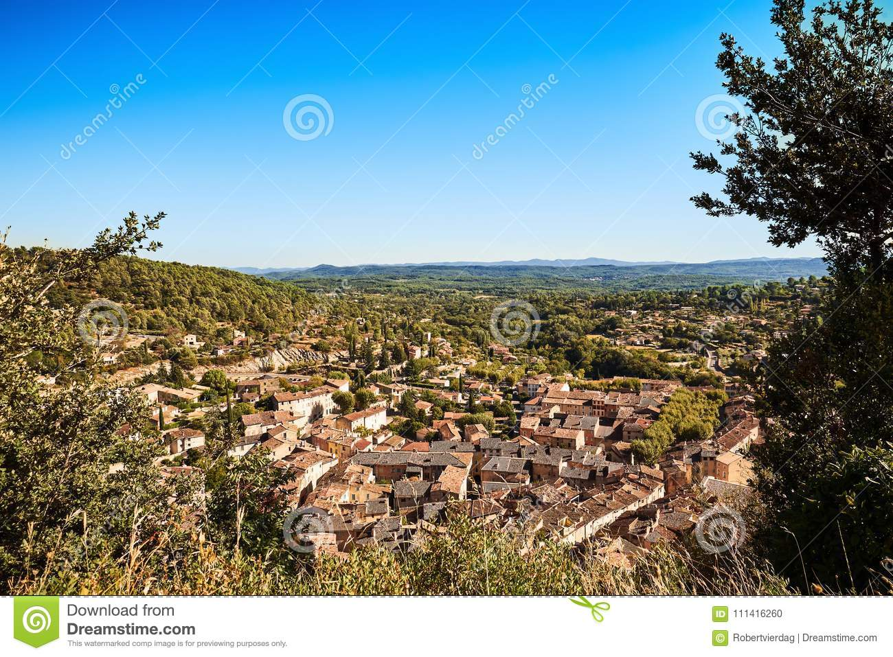 High resolution overview of the beautiful Provencal village Cotignac