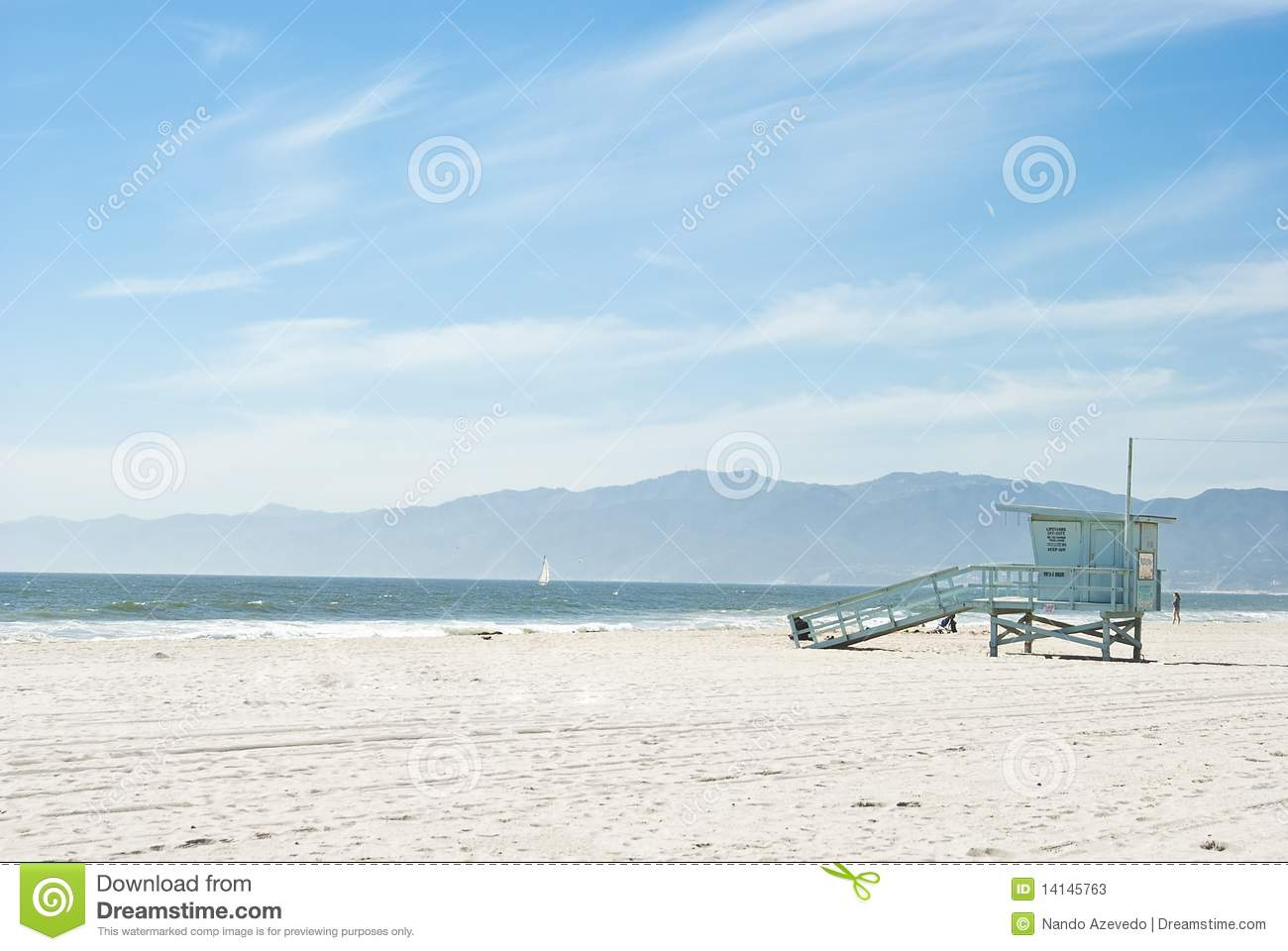 Sunny Day At Venice Beach 2 Of 7 Stock Image Image 14145763