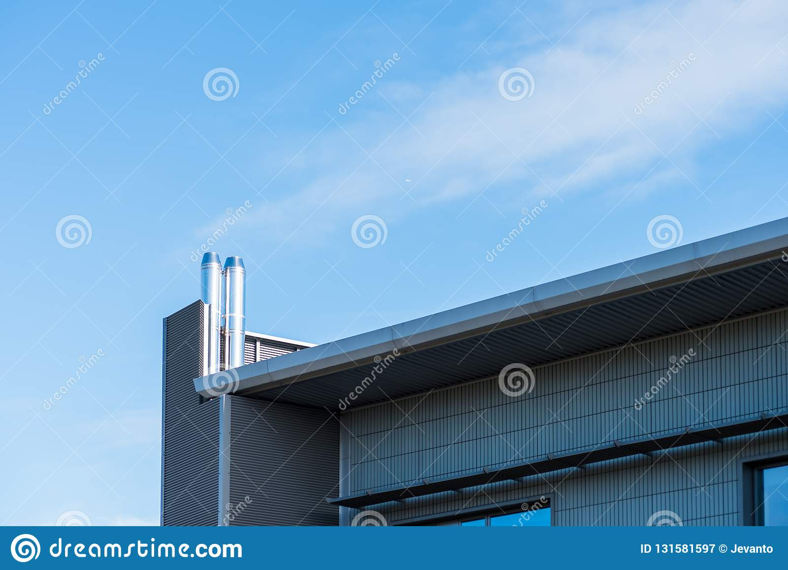 Sunny day view of modern business corporate office building in northampton england uk