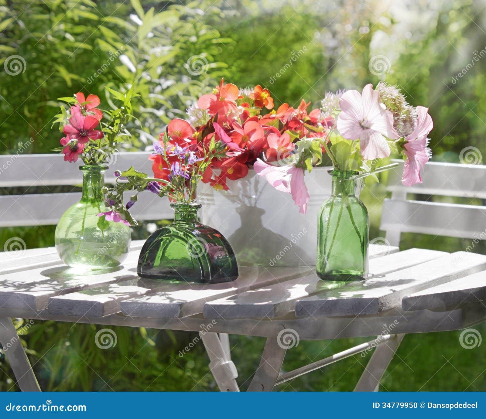 Sunny Garden Flower Arrangement Stock Photo Image 34779950