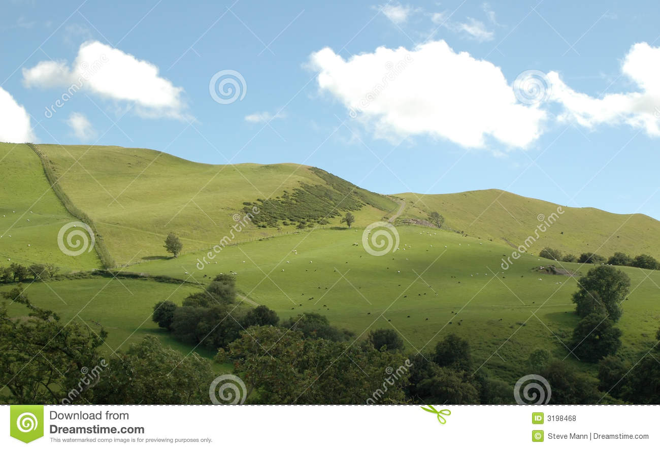 Landscaping A Sunny Hillside : Sunny hillside royalty free stock photos image