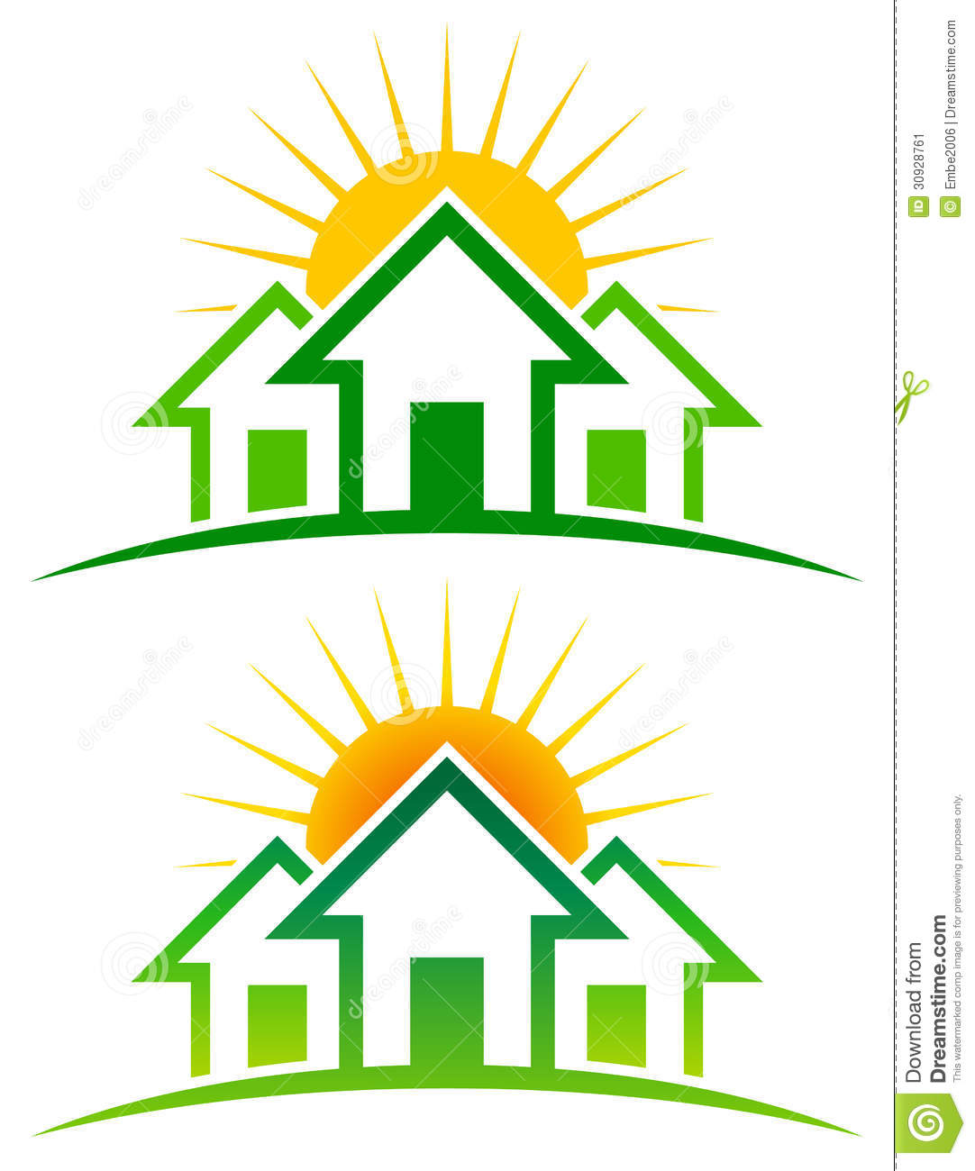 Sunny home logo stock image image 30928761 for The sunhouse