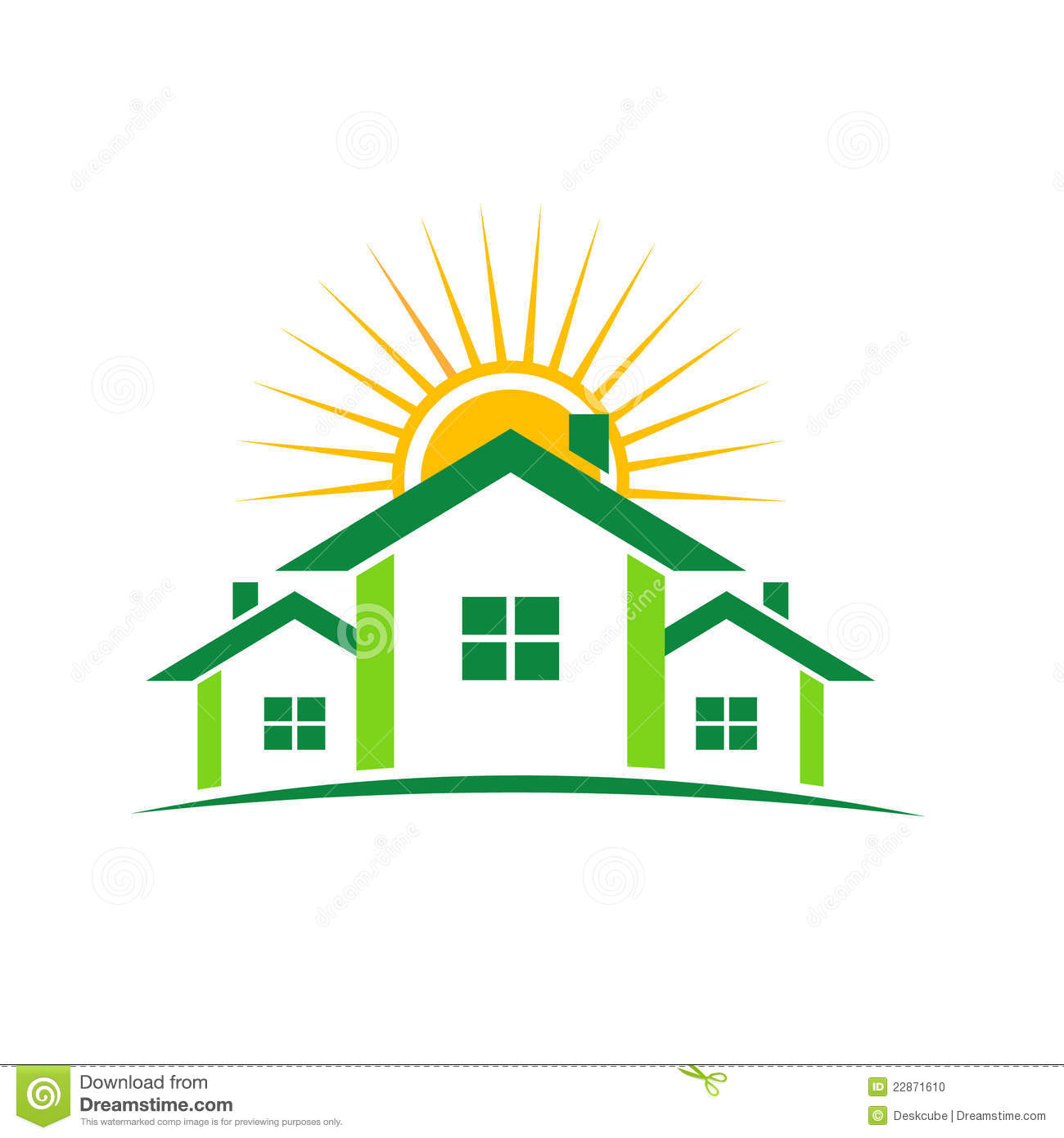 Sunny Houses Logo Stock Vector Image Of Community Eps10