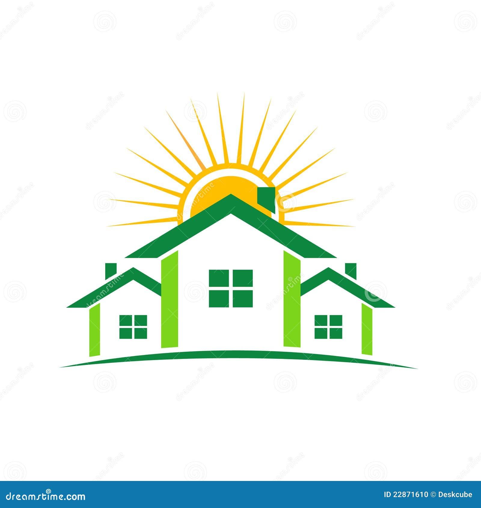sunny houses logo stock photo image 22871610