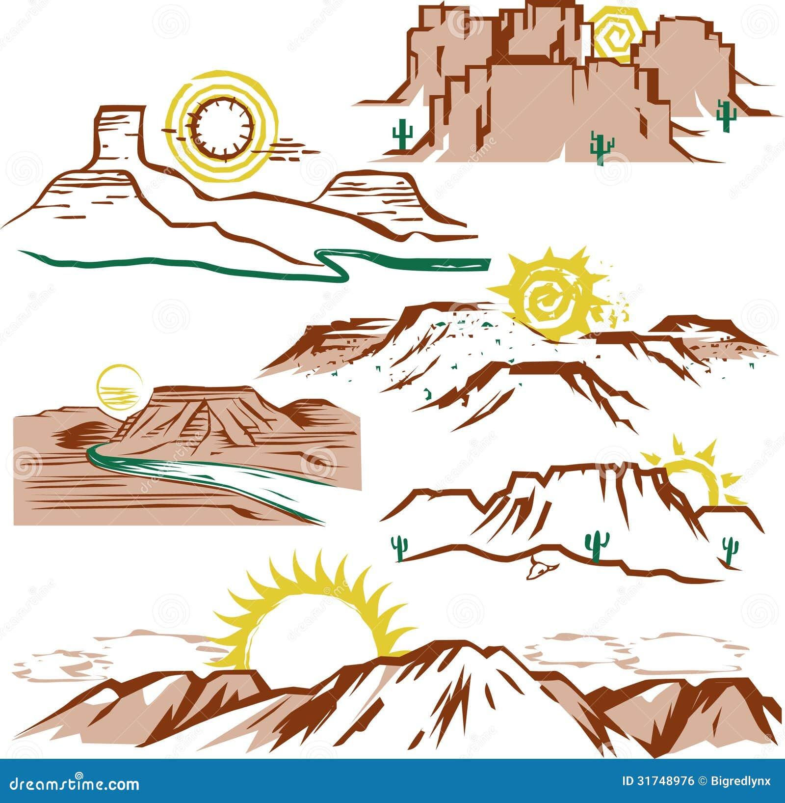 Clip art set von Sonne...
