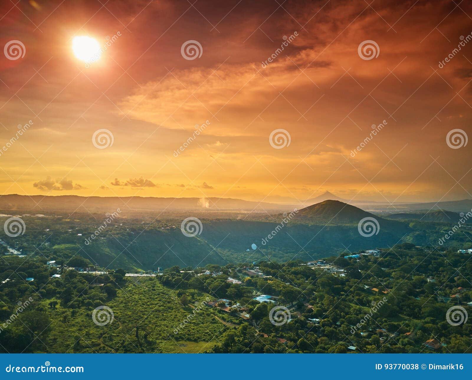 Sunny Nicaragua-landschap