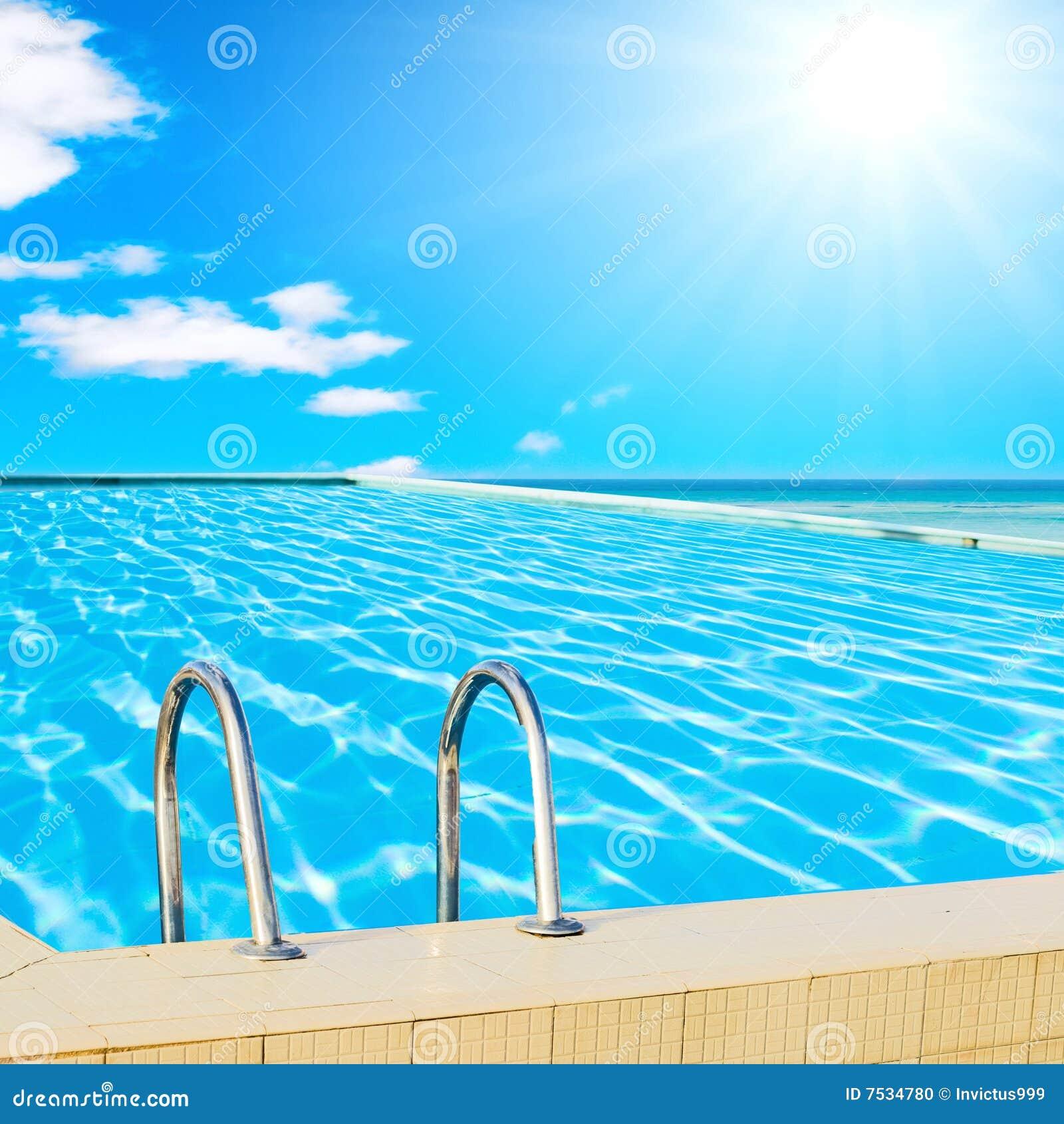 Image Of Sunny Arizona Pools: Sunny Pool Of A Hotel Stock Photo