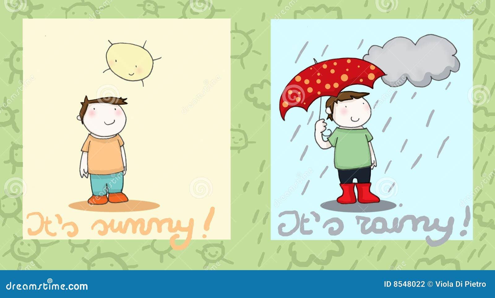 Sunny And Rainy Stock Photography Image 8548022