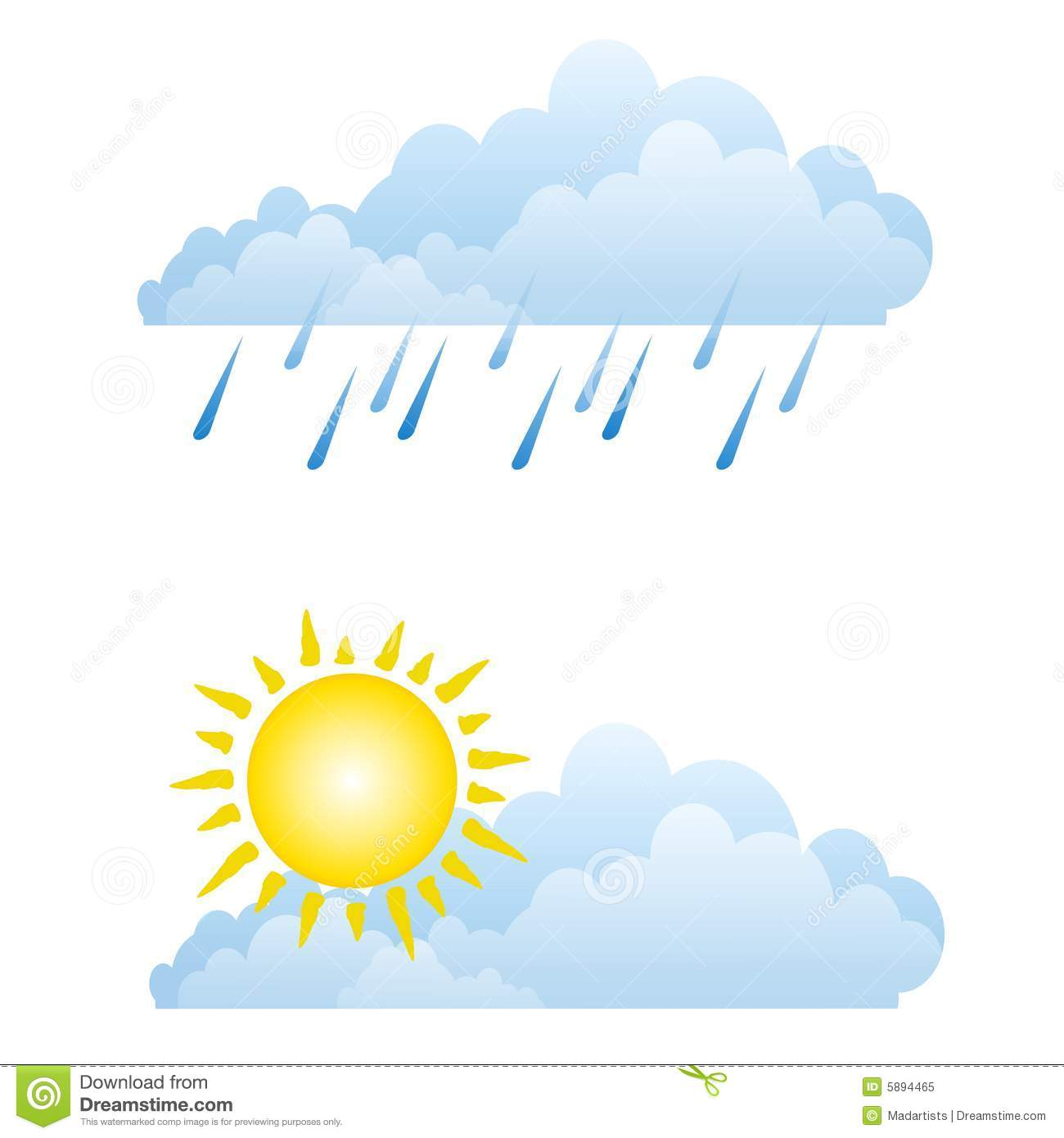 sunny rainy weather clouds stock illustration image of clip art rain clip art rainbow free