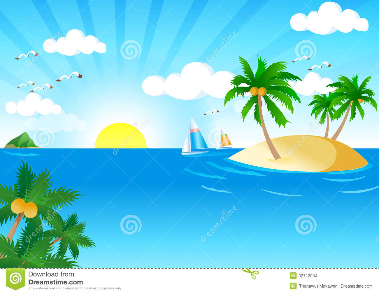 sunny and sea stock images - image: 32712094