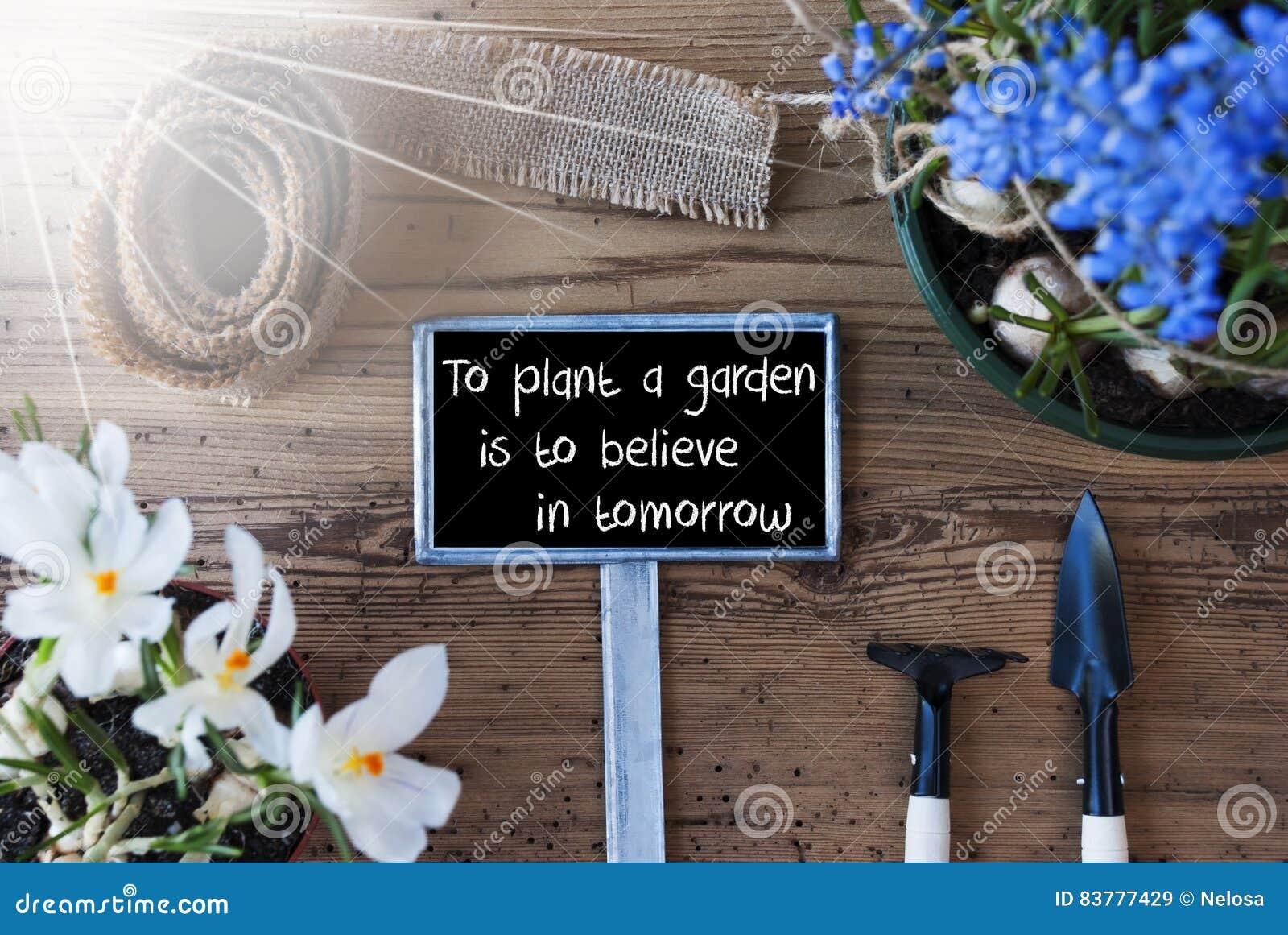 Teken Je Tuin : Sunny spring flowers teken de tuin van de citaatinstallatie