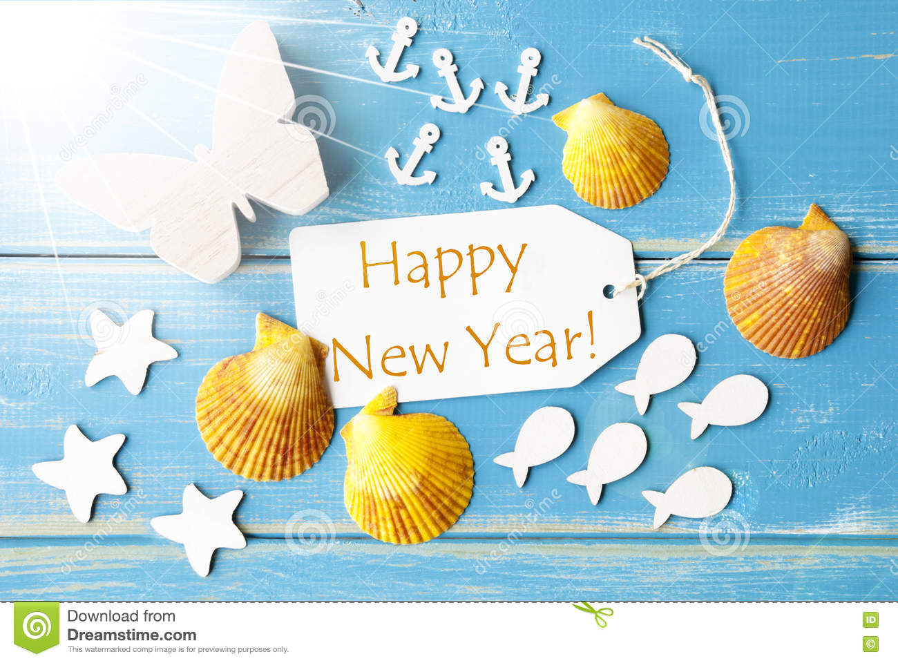 Sunny summer greeting card with text happy new year stock image download sunny summer greeting card with text happy new year stock image image of label m4hsunfo