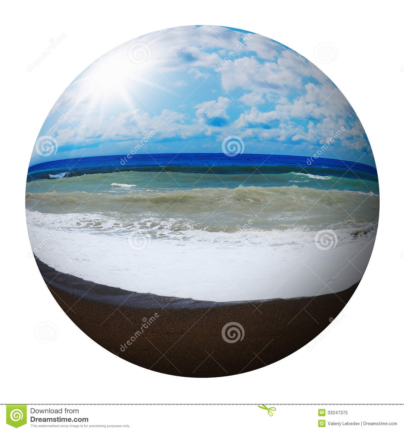 Beautiful Sunny Day At Tropical Beach Royalty Free Stock: Sunny Tropical Beach On The Island Stock Image