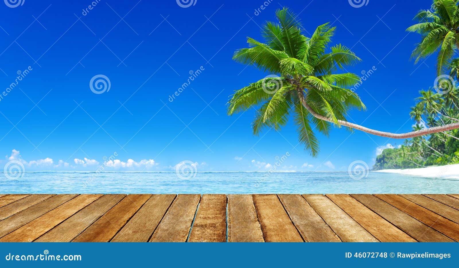 Sunny Tropical Summer Paradise Beach