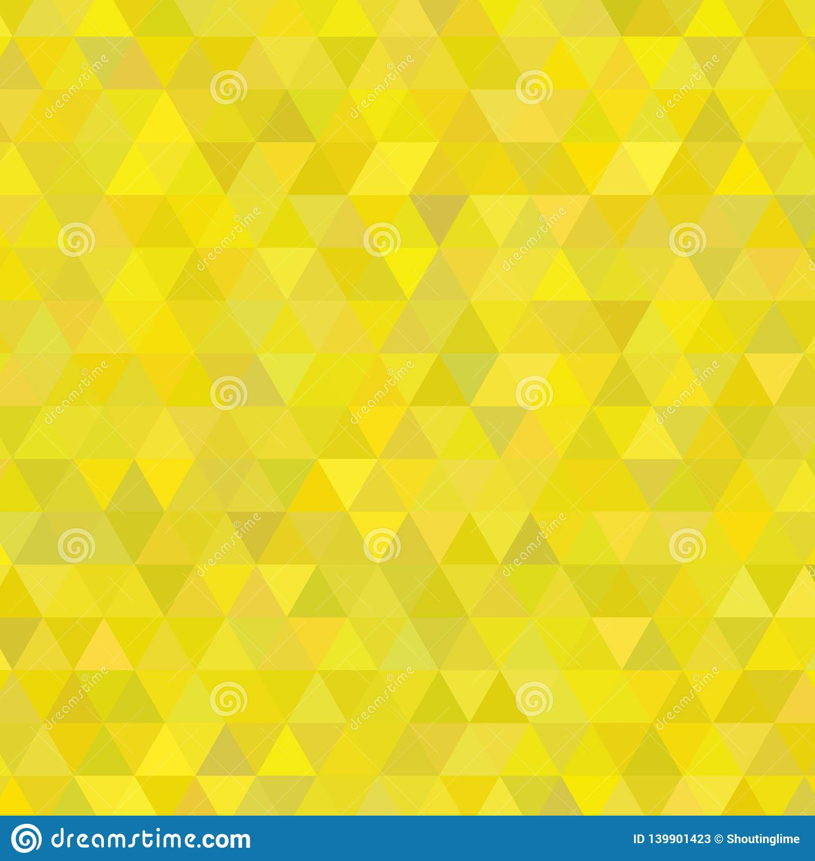 Sunny Yellow Shades Background Square van Driehoeken