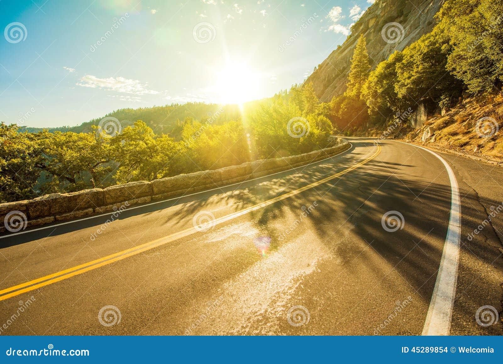 Sunny Yosemite Road